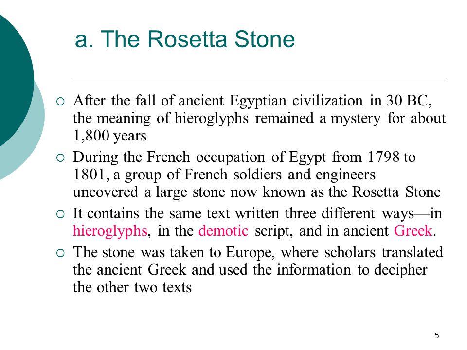 6 The Rosetta Stone British Museum, London