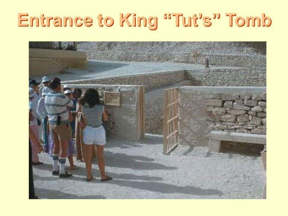"""Entrance to King """"Tut's"""" Tomb"""