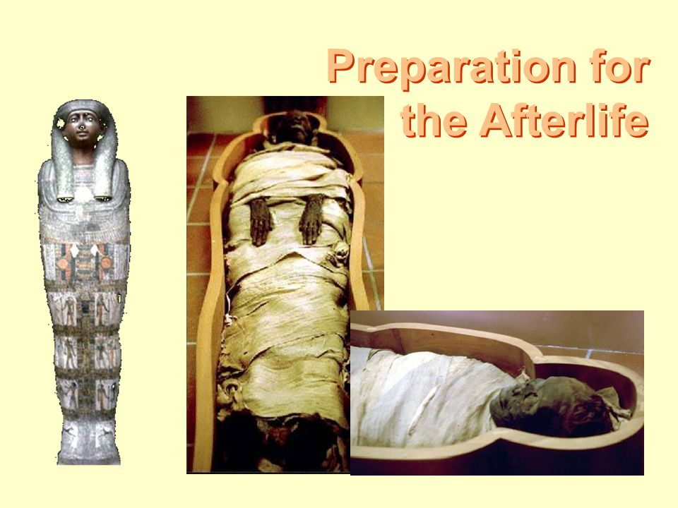 Preparation for the Afterlife