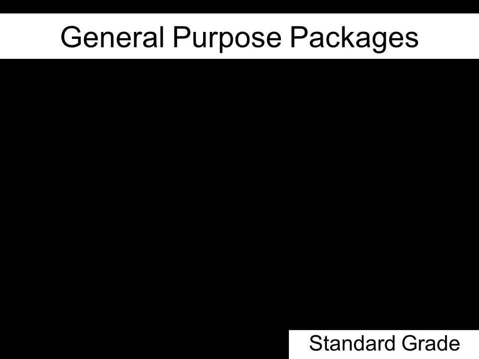 General Purpose Packages Standard Grade