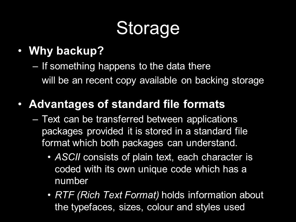 Storage Why backup.