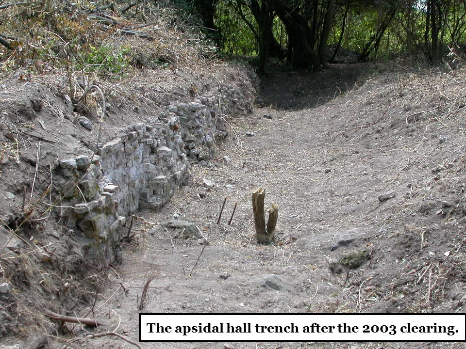 The apsidal hall trench after the 2003 clearing.