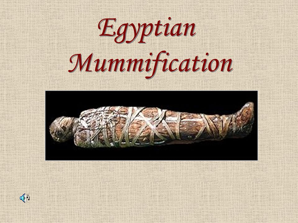 The ancient Egyptians believed that after death their bodies would travel to another world during the day, and at night they would return to their bodies.