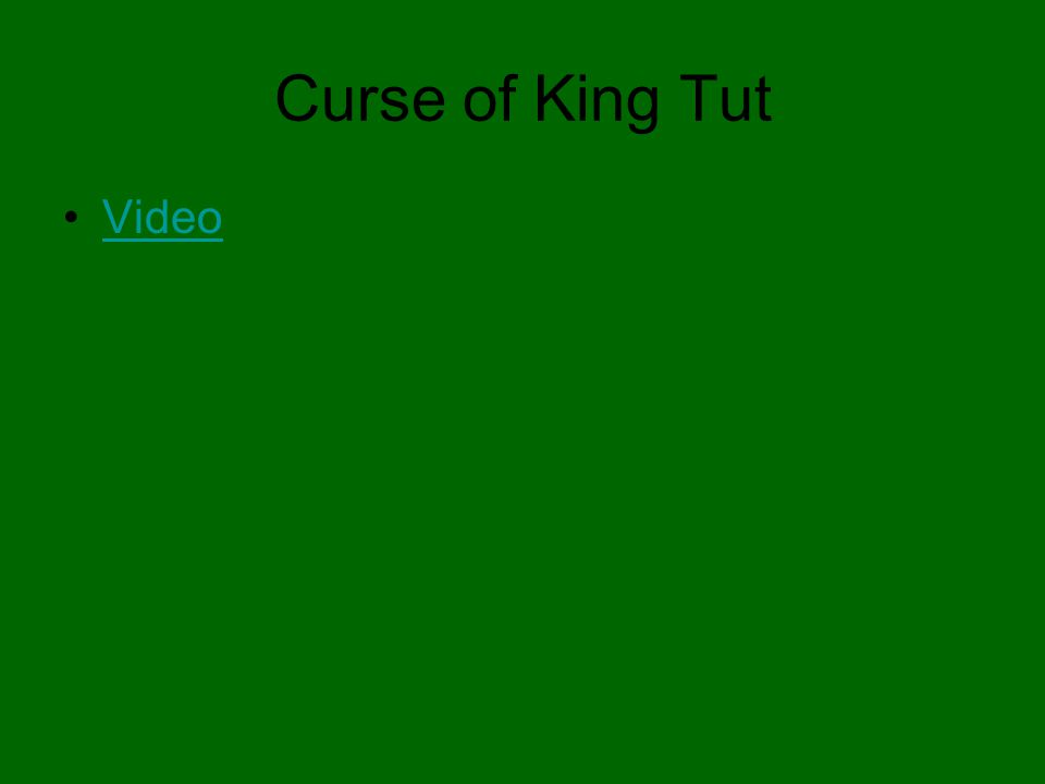 Curse of King Tut Video
