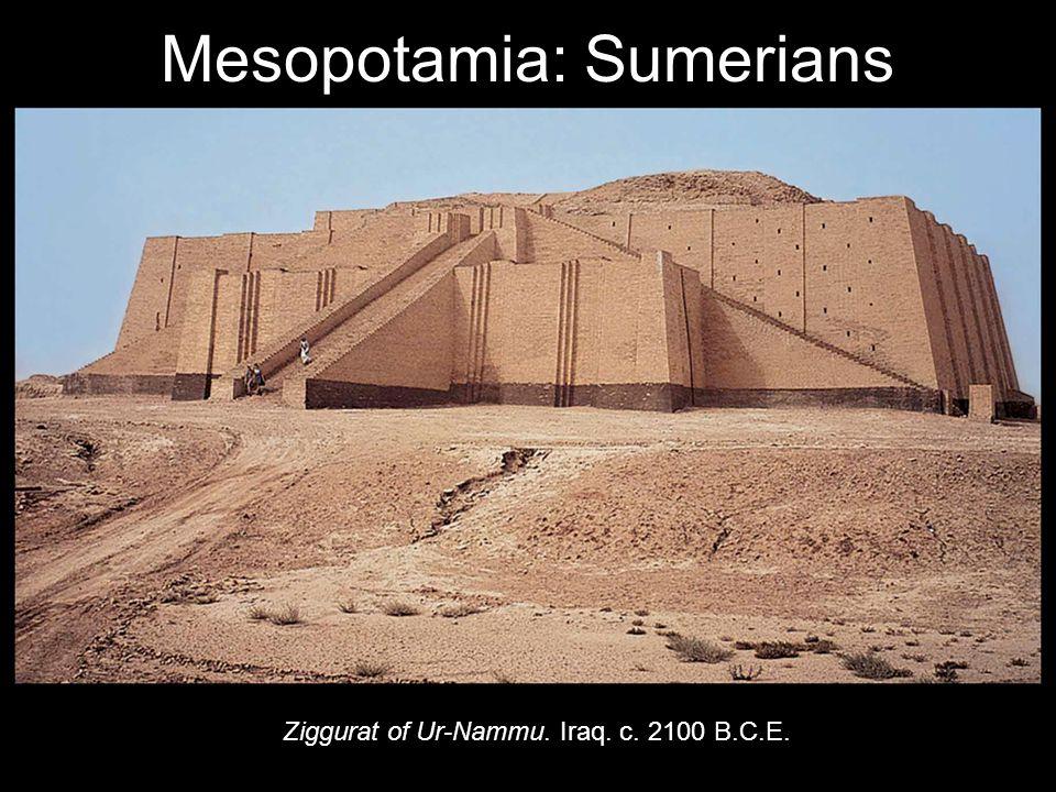 Ziggurat of Ur-Nammu. Iraq. c. 2100 B.C.E. Mesopotamia: Sumerians