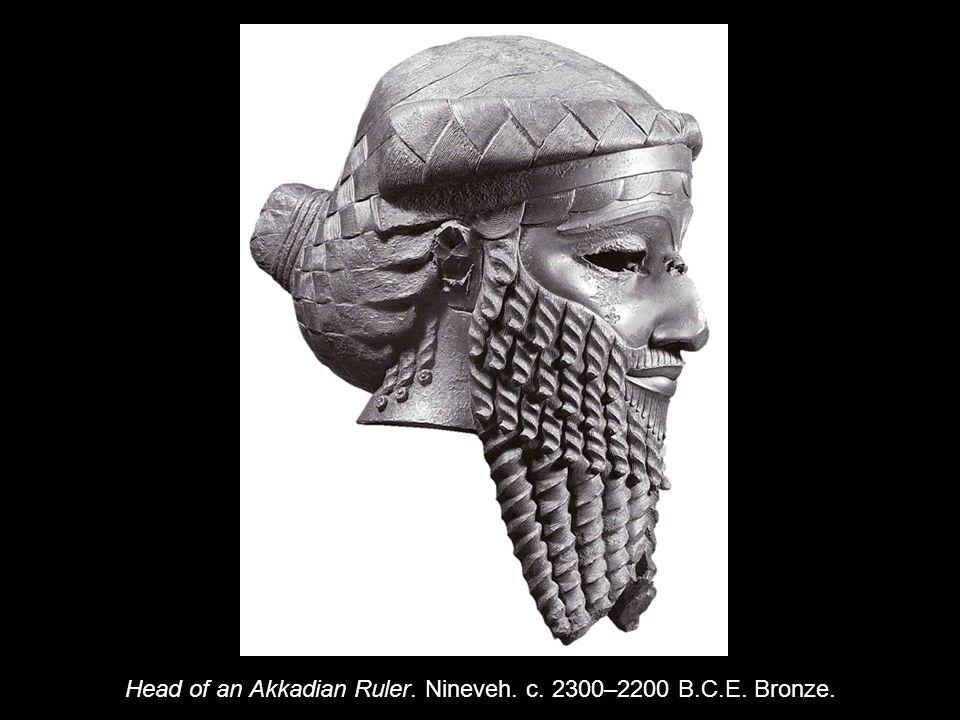 Head of an Akkadian Ruler. Nineveh. c. 2300–2200 B.C.E. Bronze.