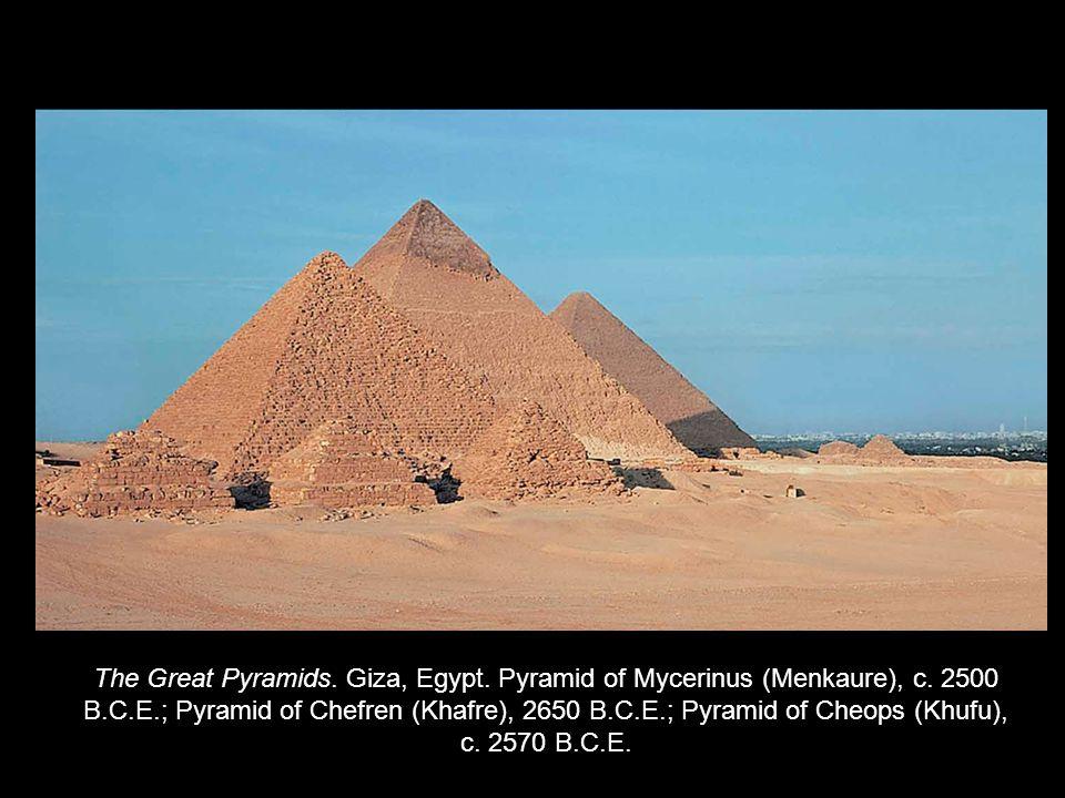 The Great Pyramids. Giza, Egypt. Pyramid of Mycerinus (Menkaure), c.