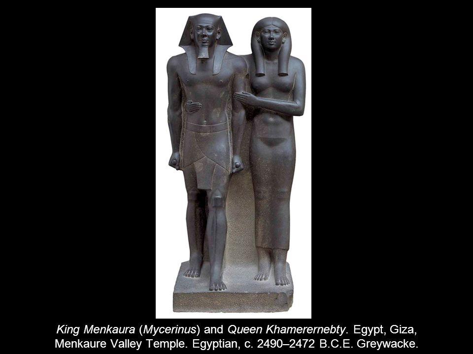 King Menkaura (Mycerinus) and Queen Khamerernebty.