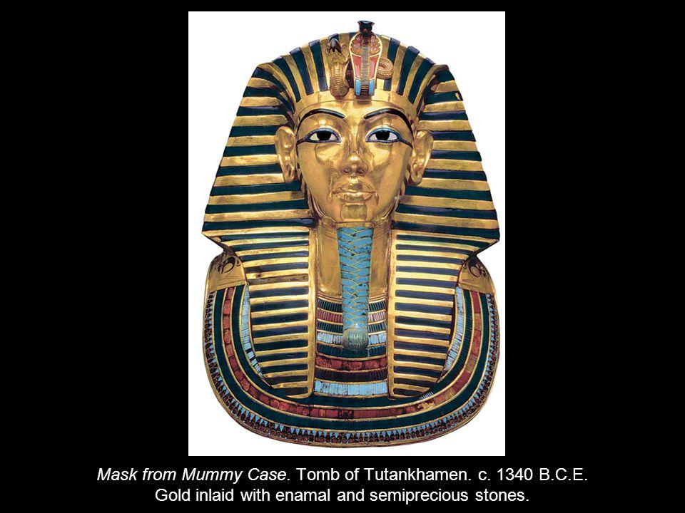 Mask from Mummy Case. Tomb of Tutankhamen. c. 1340 B.C.E.