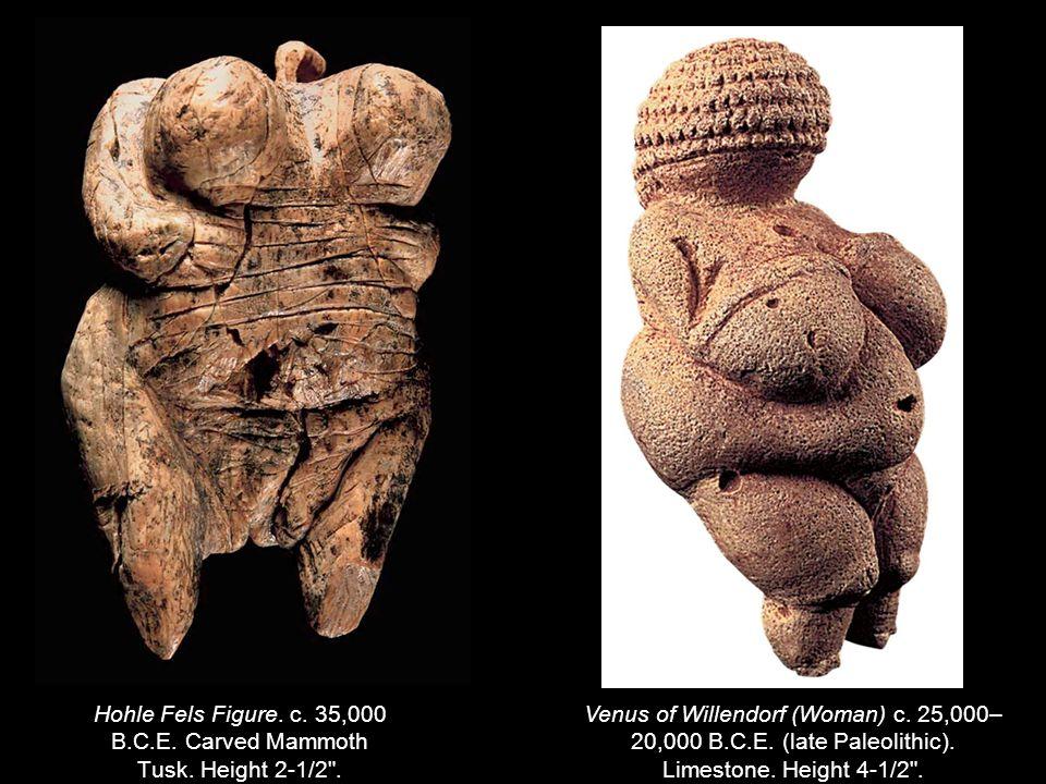 Hohle Fels Figure. c. 35,000 B.C.E. Carved Mammoth Tusk.