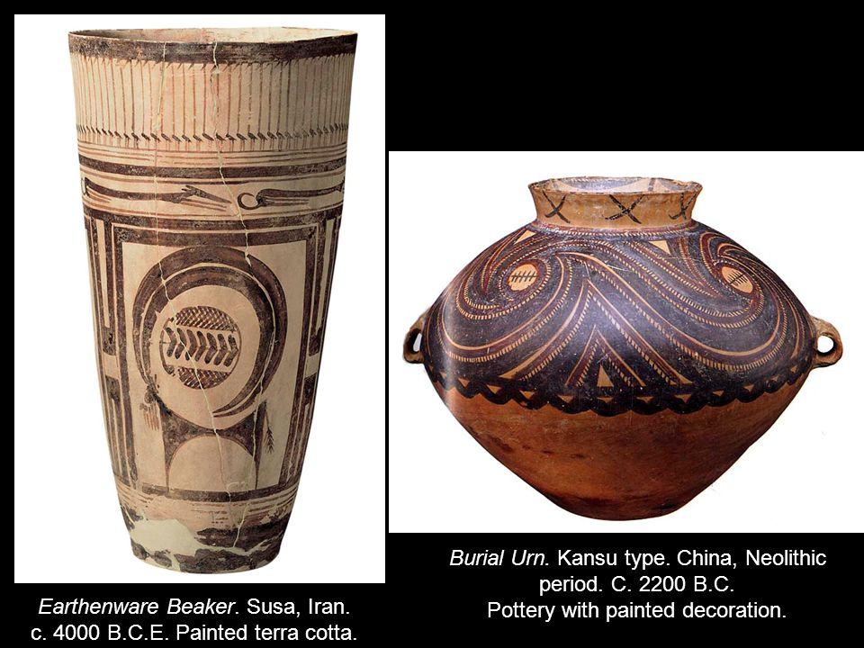 Earthenware Beaker. Susa, Iran. c. 4000 B.C.E. Painted terra cotta.