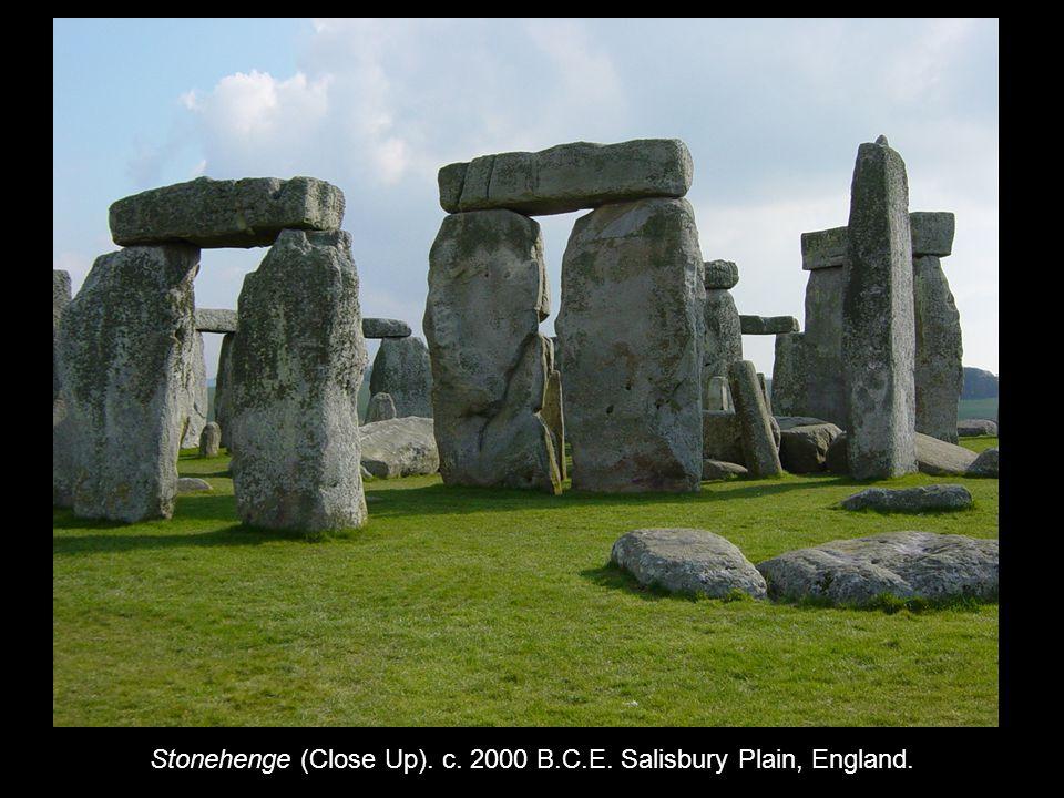 Stonehenge (Close Up). c. 2000 B.C.E. Salisbury Plain, England.