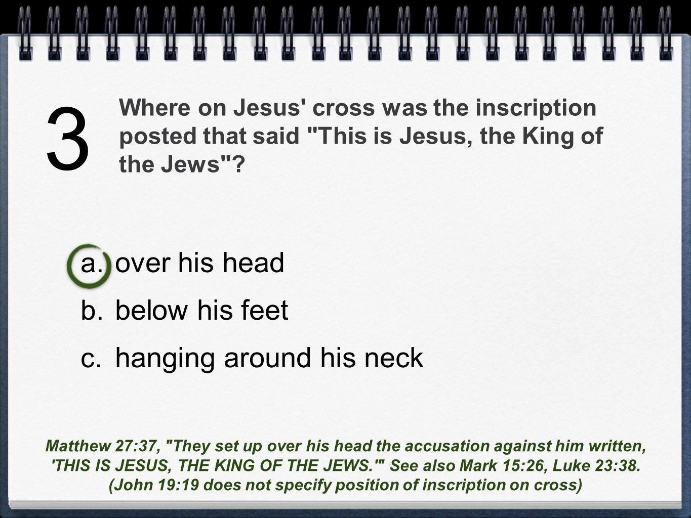Where on Jesus cross was the inscription posted that said This is Jesus, the King of the Jews .