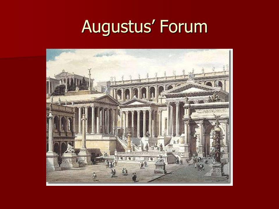 Augustus' Forum Augustus' Forum