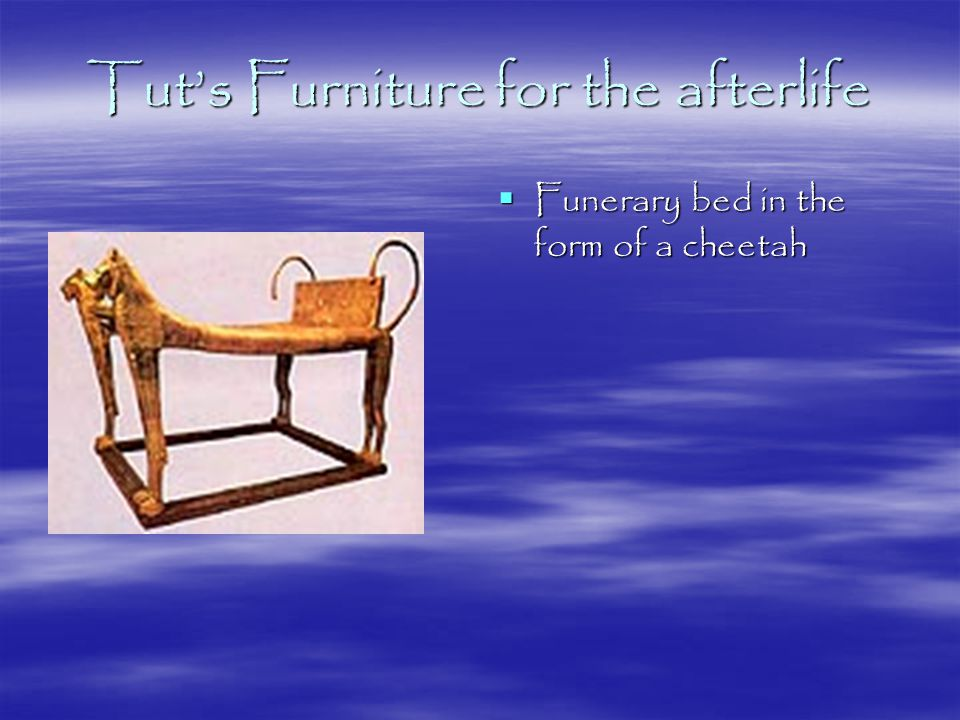Tut's Furniture for the afterlife  Funerary bed in the form of a cheetah