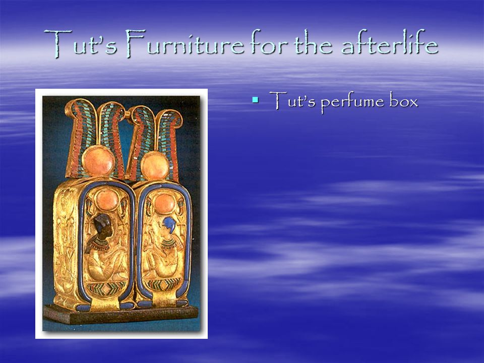 Tut's Funeral Equipment  Tut's outer coffin