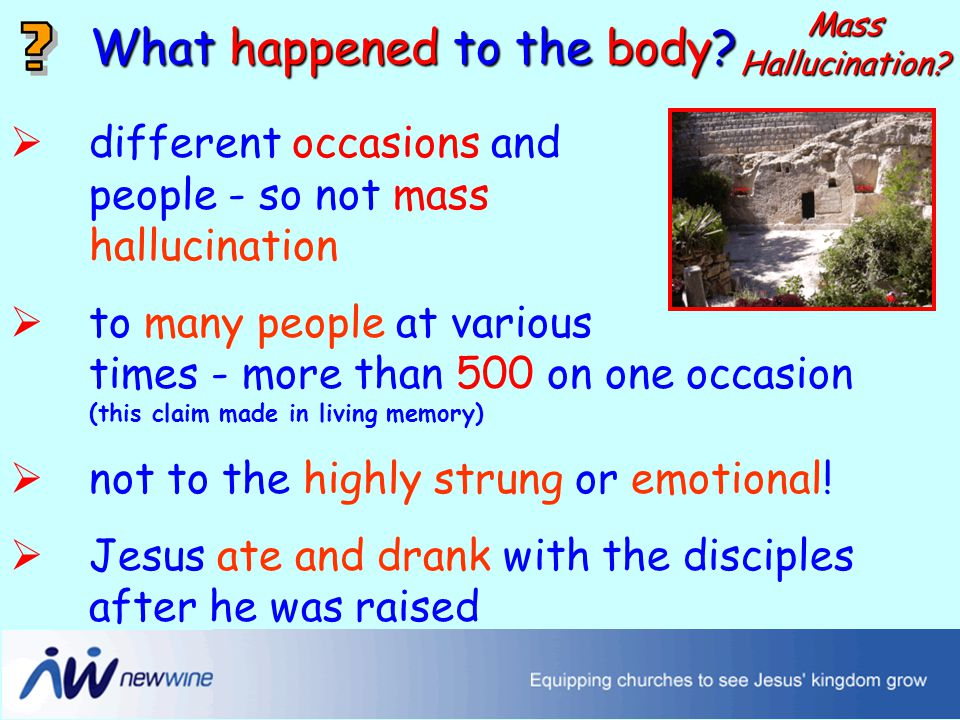 The changed disciples What happened to the body.