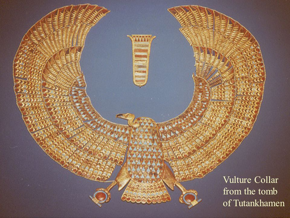 Vulture collar from Tut's tomb Vulture Collar from the tomb of Tutankhamen