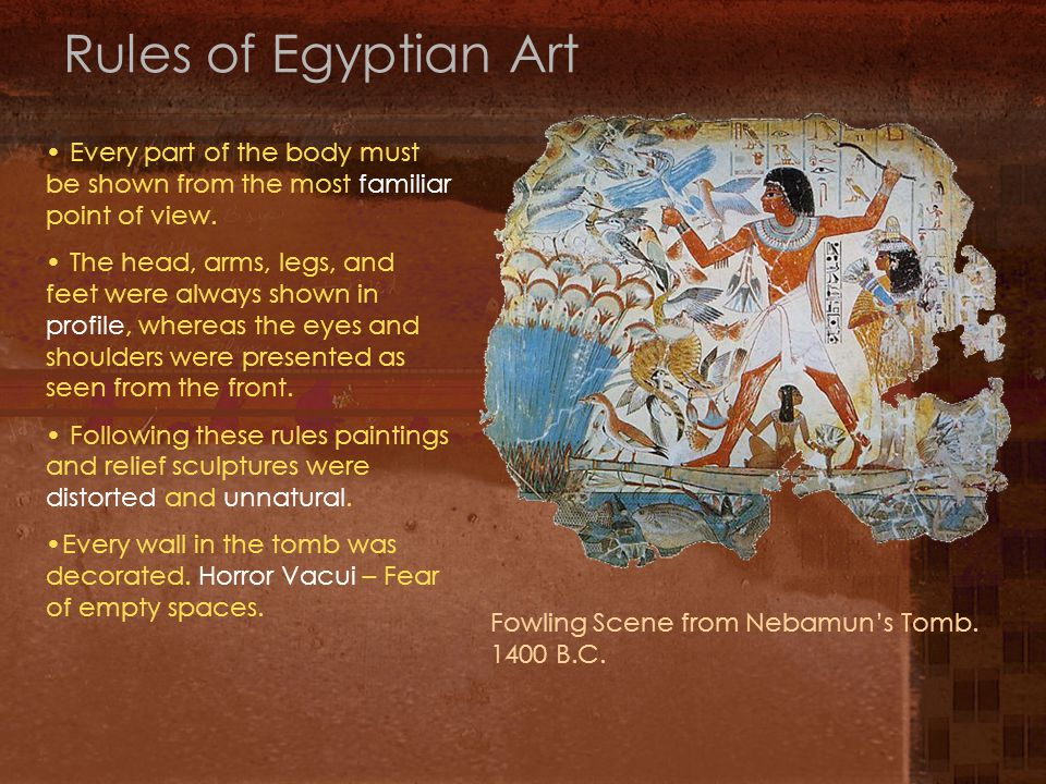 Rules of Egyptian Art Fowling Scene from Nebamun's Tomb.
