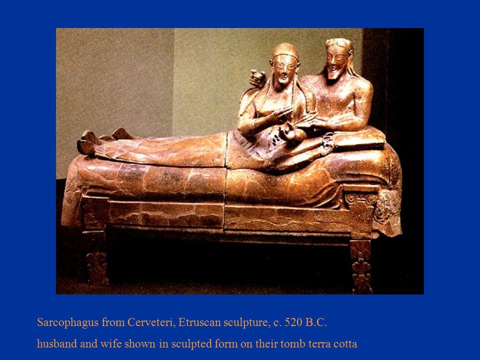 Sarcophagus from Cerveteri, Etruscan sculpture, c.