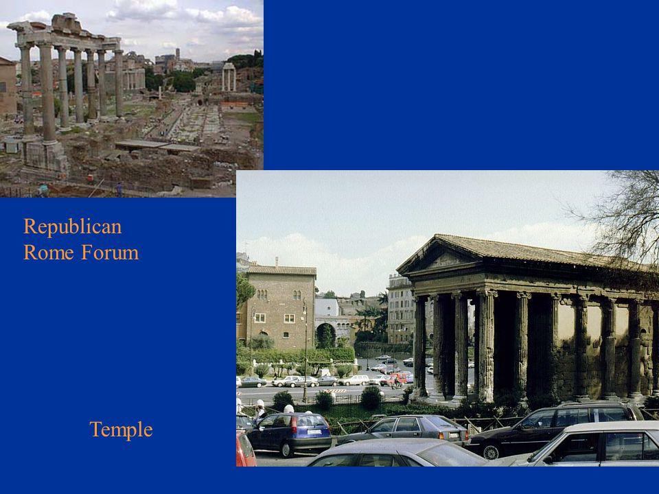 Republican Rome Forum Temple