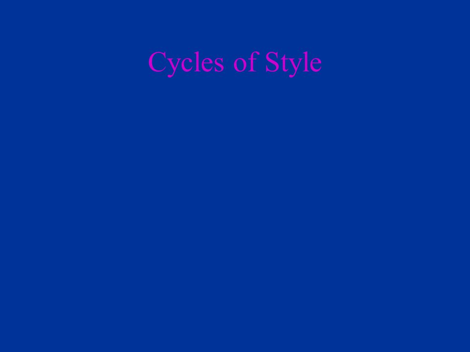 Cycles of Style