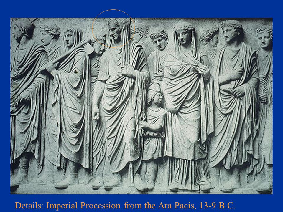 Details: Imperial Procession from the Ara Pacis, 13-9 B.C.