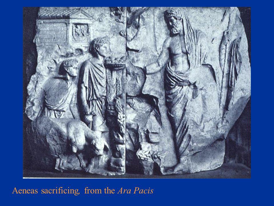Aeneas sacrificing, from the Ara Pacis