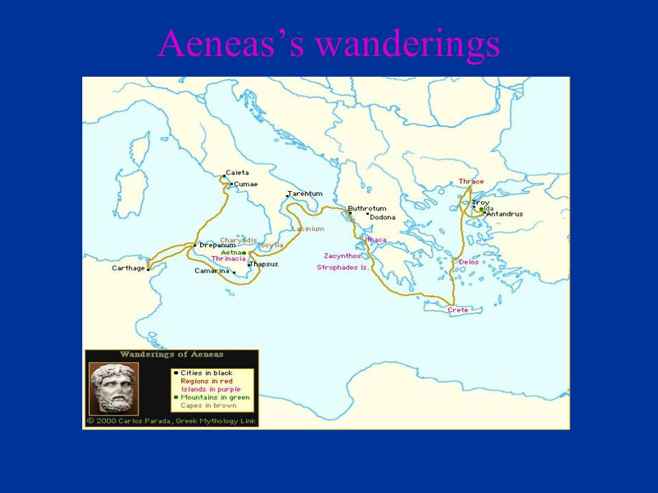 Aeneas's wanderings