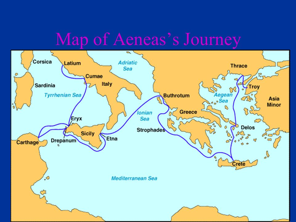 Map of Aeneas's Journey
