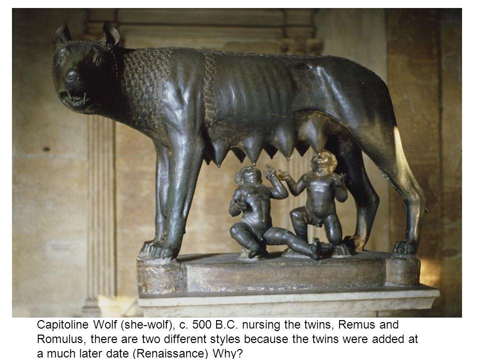 Capitoline Wolf (she-wolf), c. 500 B.C.