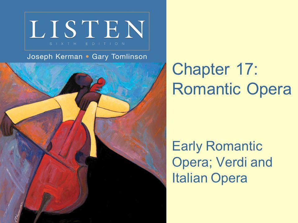 Key Terms early Romantic opera Italian opera German opera bel canto exoticism arioso