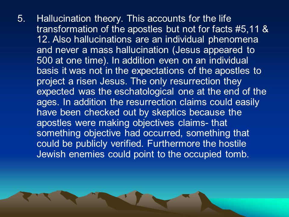 5.Hallucination theory.