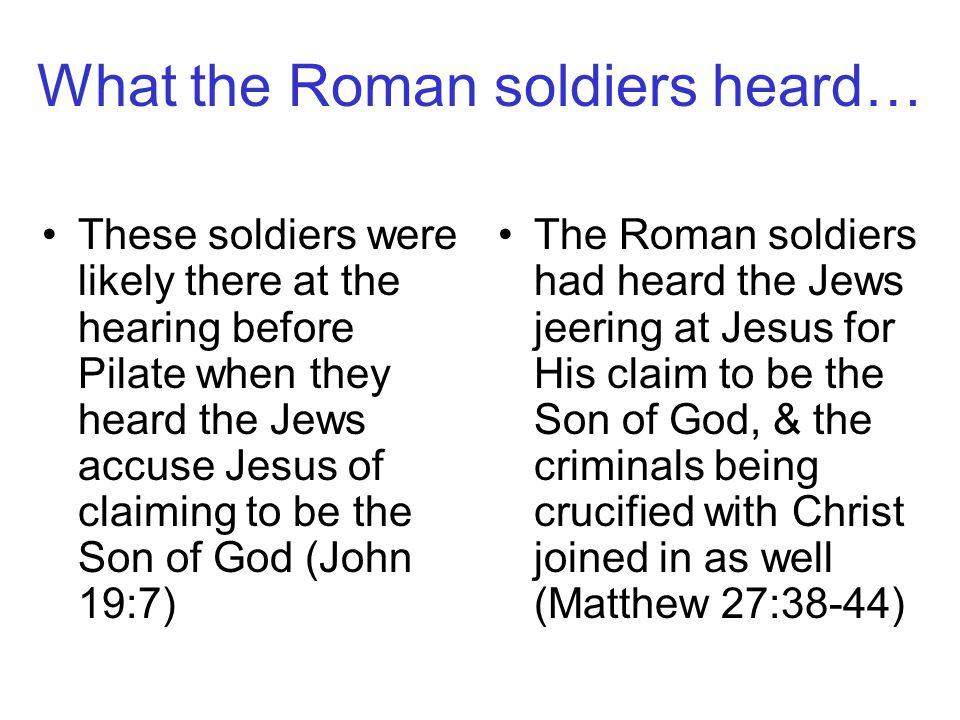 Were Roman soldiers all pagan Romans through & through.