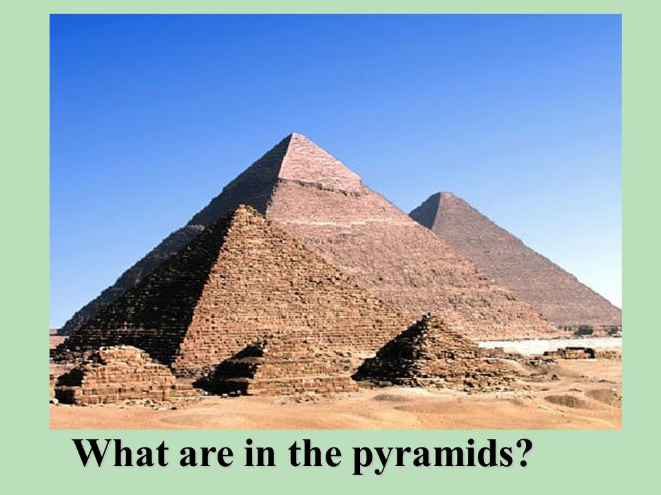 What is Egypt famous for? pyramids