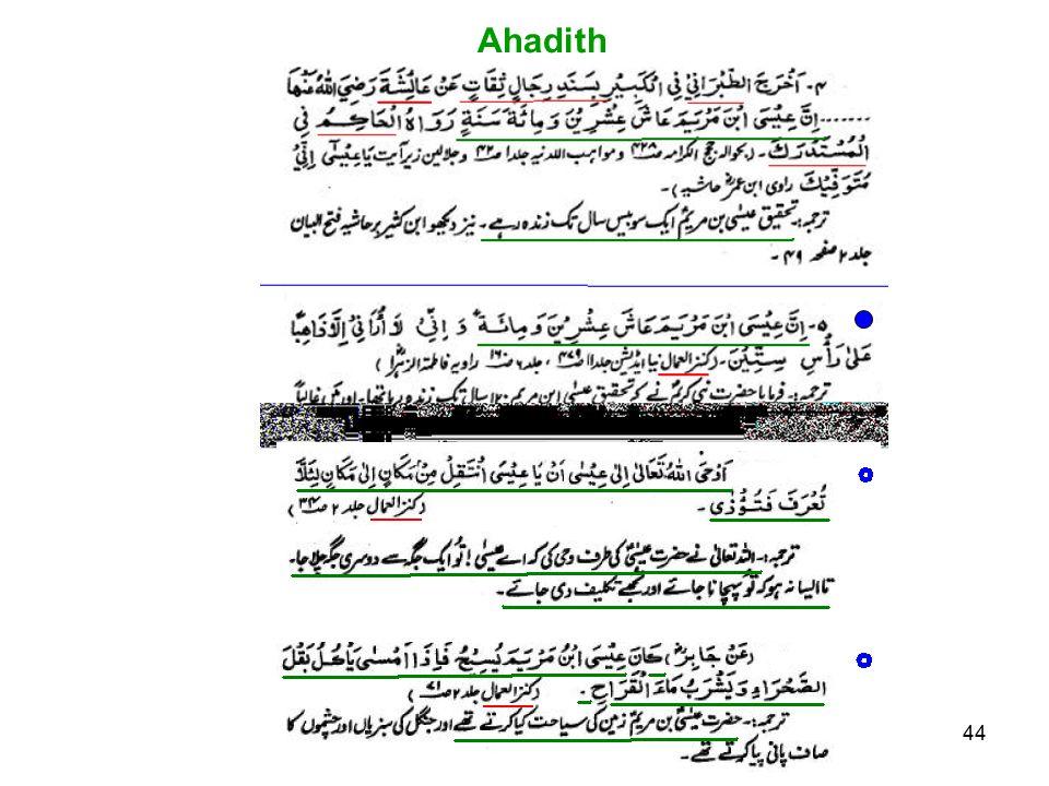 44 Ahadith