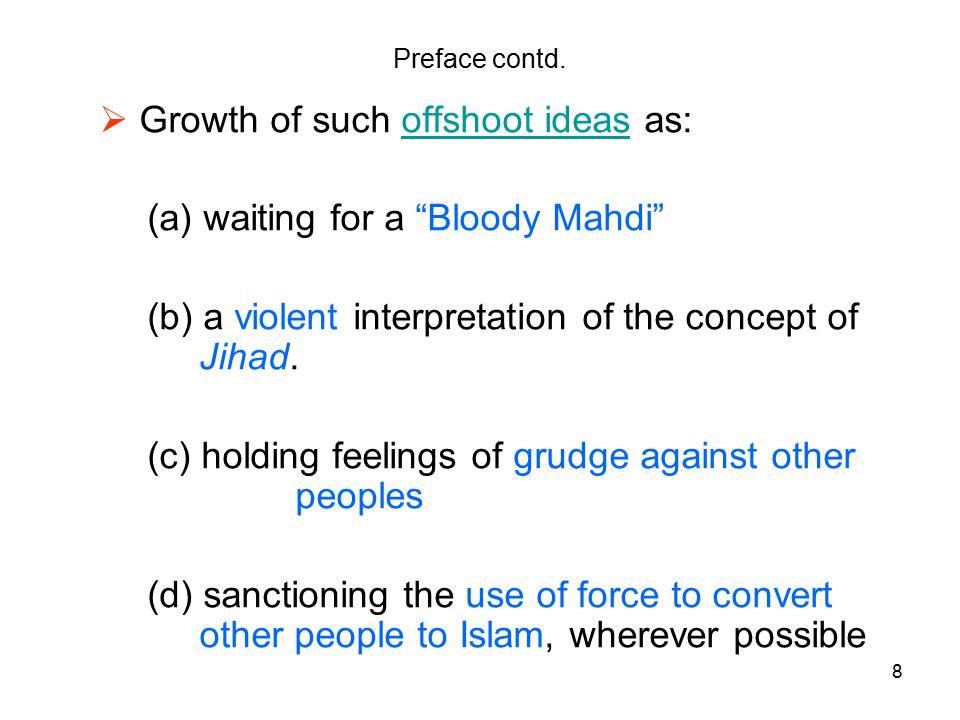 8 Preface contd.