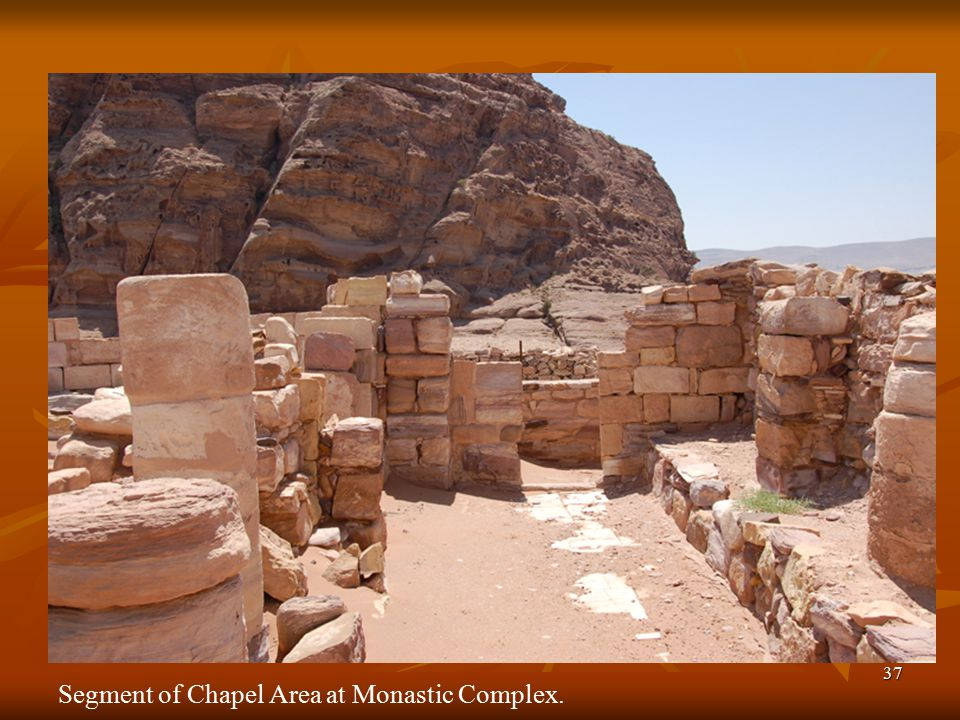 37 Segment of Chapel Area at Monastic Complex.