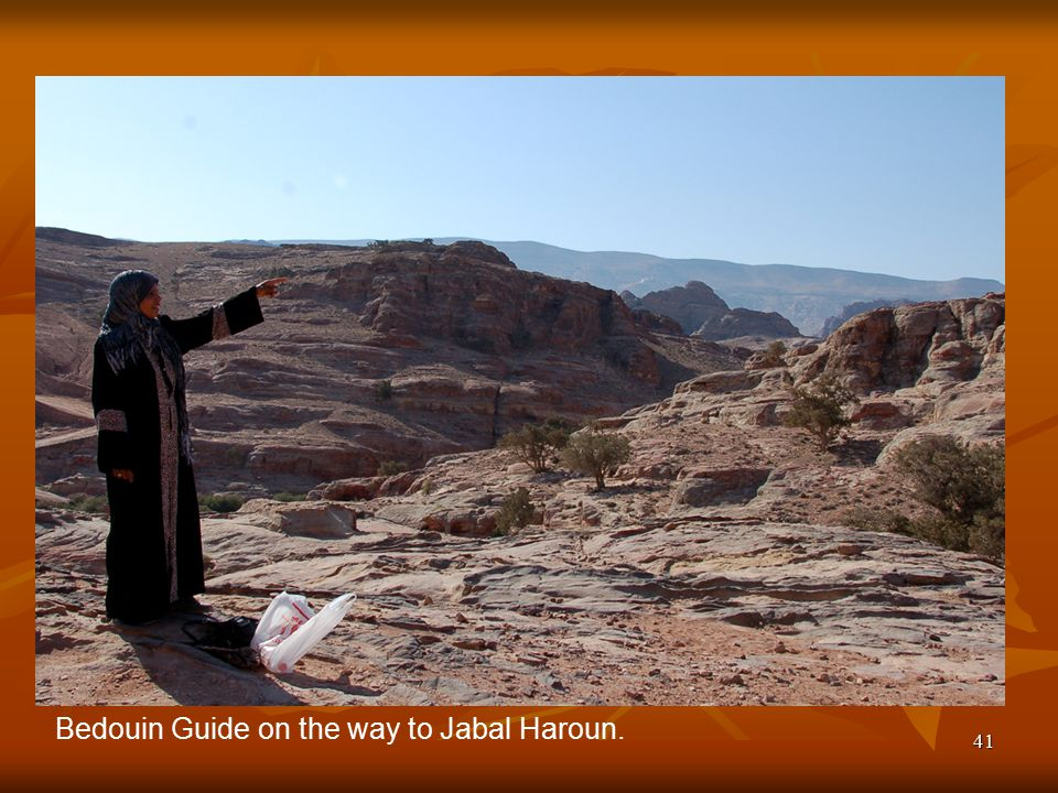 41 Bedouin Guide on the way to Jabal Haroun.