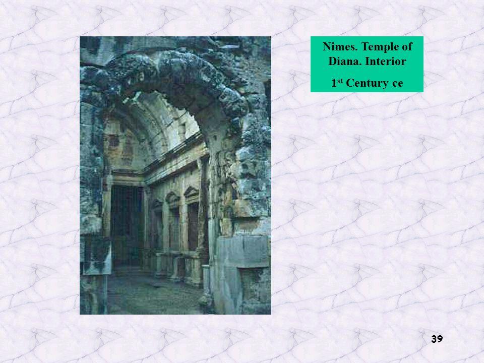 39 Nîmes. Temple of Diana. Interior 1 st Century ce