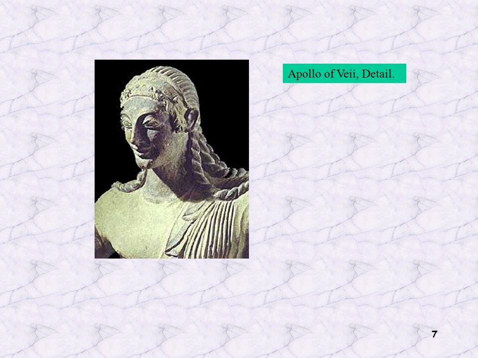 7 Apollo of Veii, Detail.