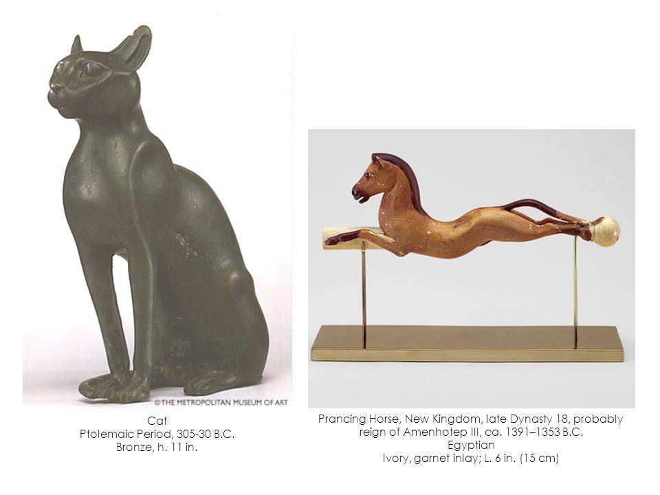 Ivory hunting dog Late Dynasty 18, 1400-1350 B.C.