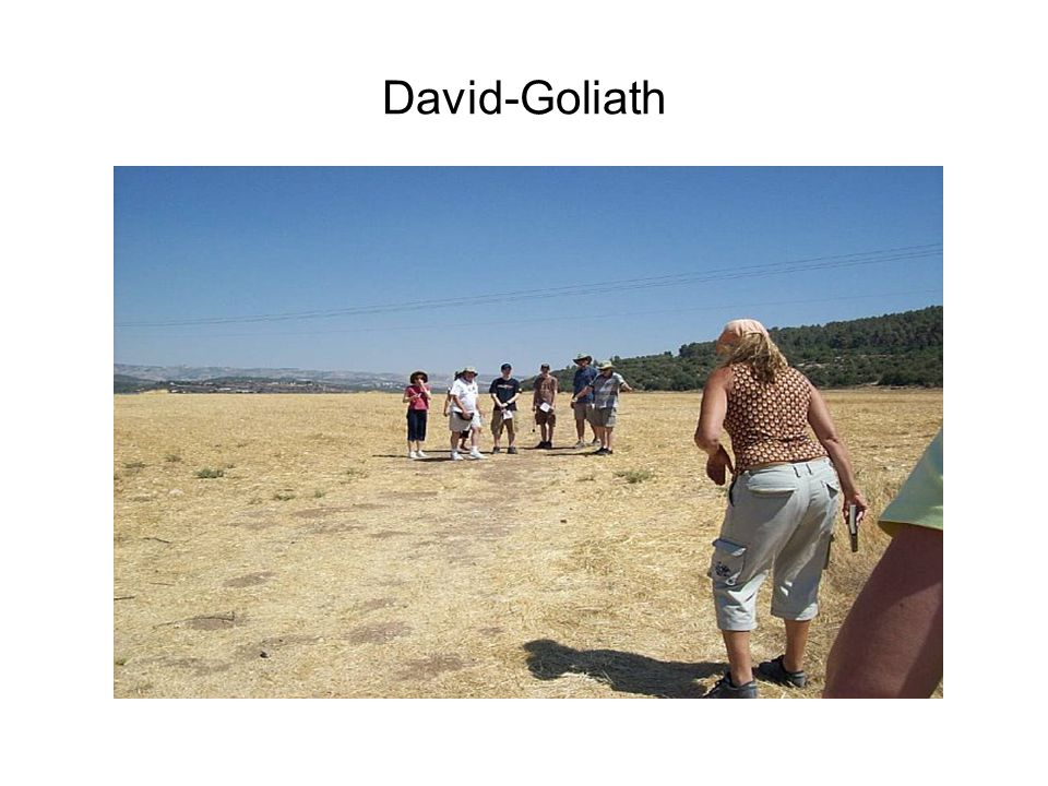 Final instructions for David before meeting Goliath