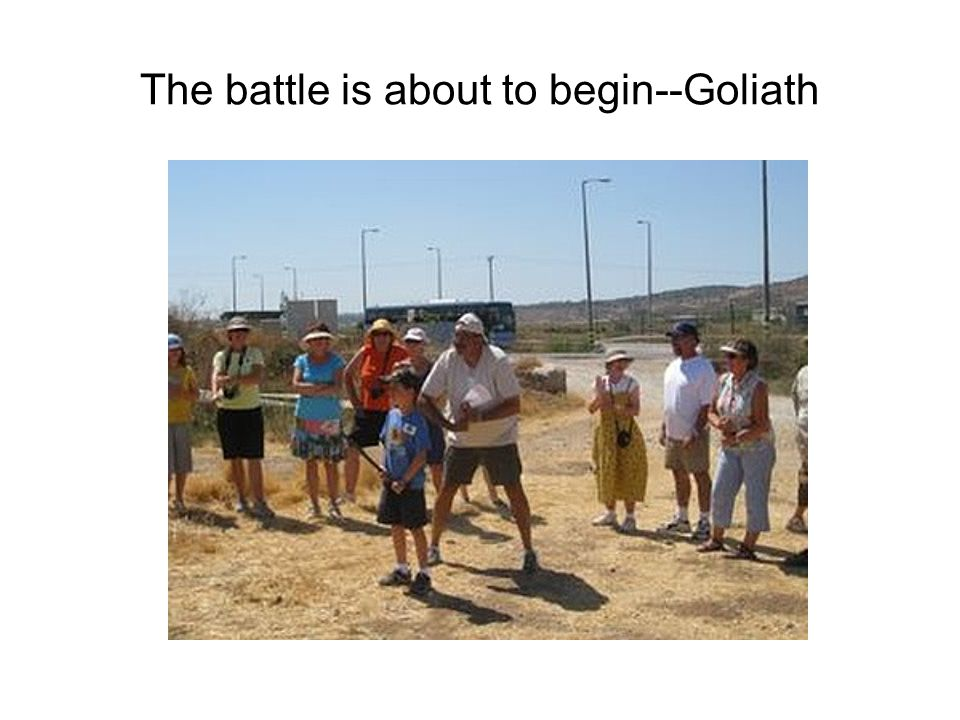 Goliath--note new hat!