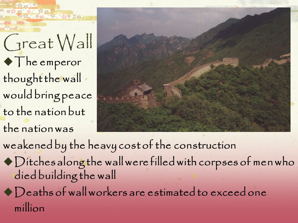 The Great Wall  Communication between the army units along the length of the Great Wall, including the ability to call reinforcements and warn garris