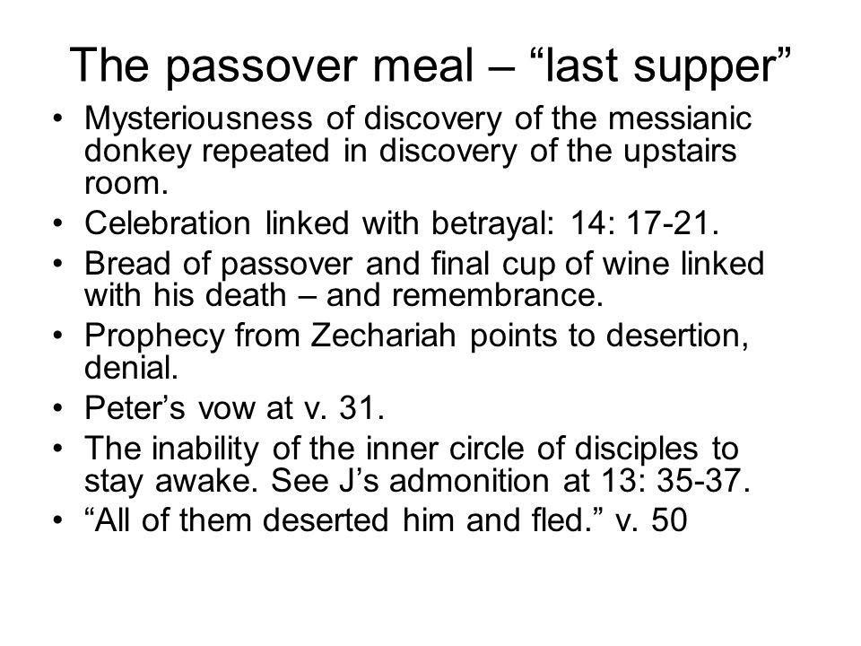 Peter, messiahship, denial Peter follows at a distance.