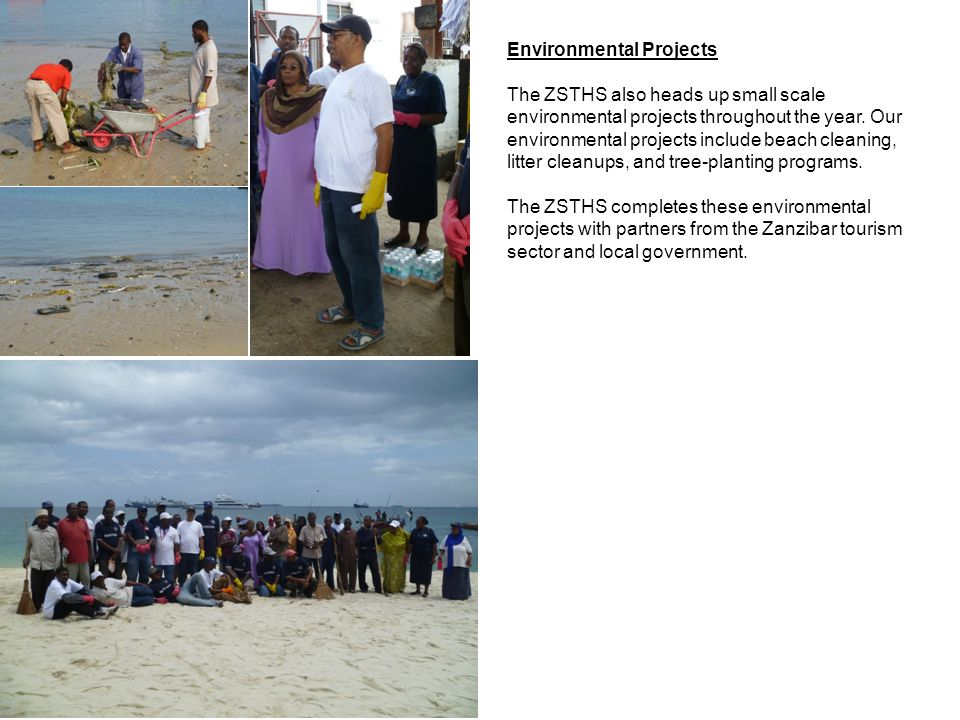Environmental Projects The ZSTHS also heads up small scale environmental projects throughout the year.
