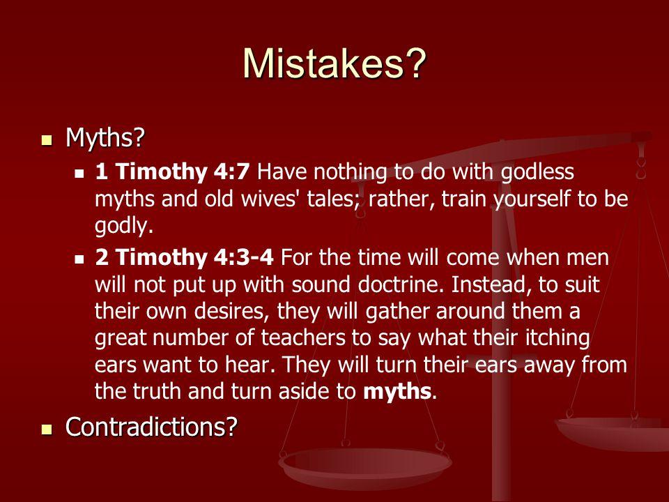 Mistakes. Myths. Myths.