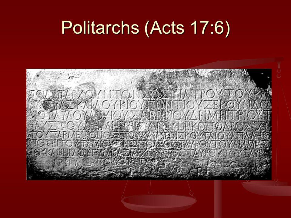 Politarchs (Acts 17:6)