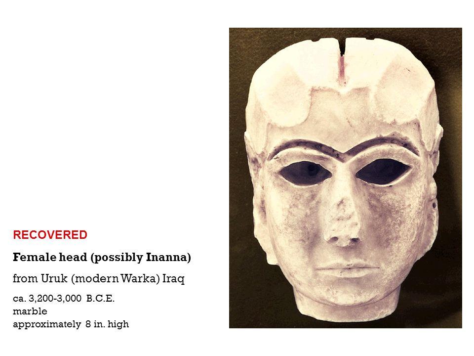 Warka Vase from Uruk (modern Warka) Iraq ca.3,200-3,000 B.C.E.
